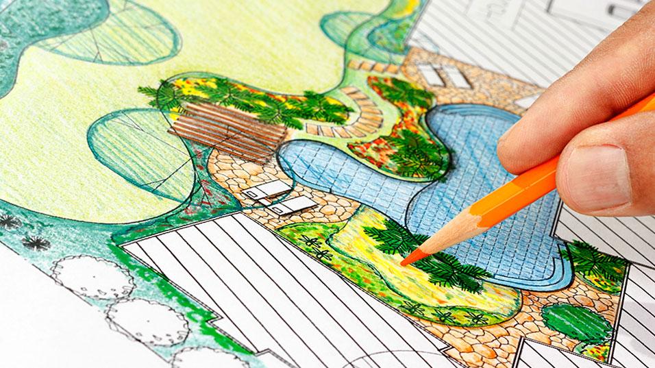 Dessin d'aménagement paysager