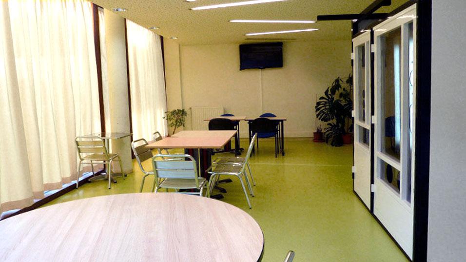 Salle de détente de l'hébergement